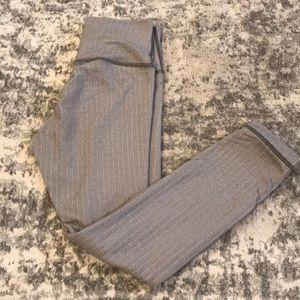 LULULEMON grey workout crop pant